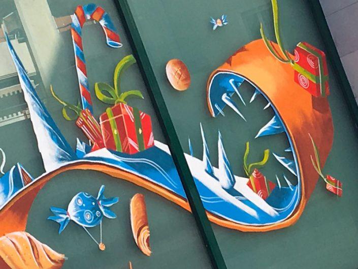 peinture vitrine boulangerie