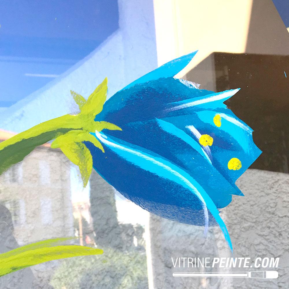 deco Printemps ambiance fleuriste Vitrine de Paques // Décoration centre commercial hypermarché / HYPER-U