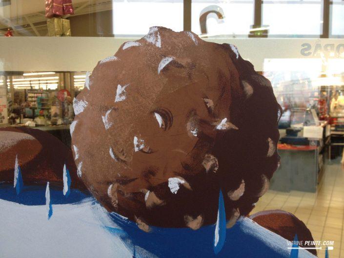 idée déco vitrine magasin intermerché chocolat