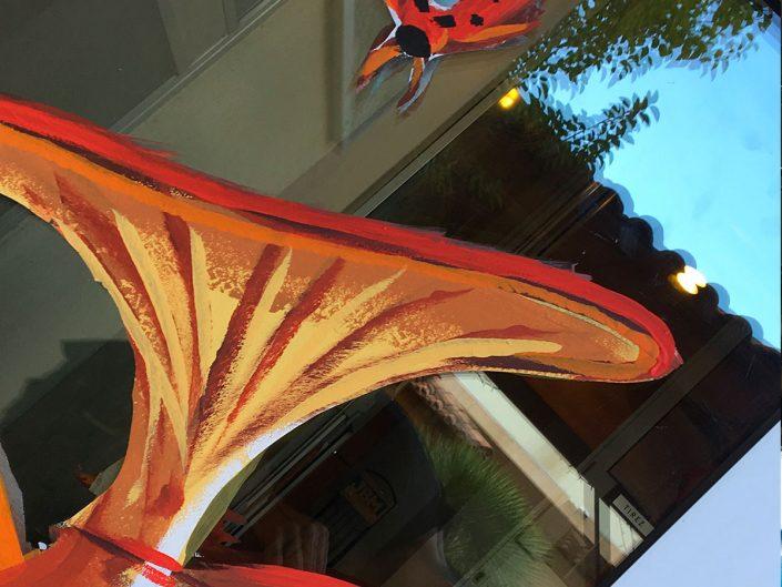 deco vitrine automne Coccinelle champignon