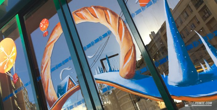 decoration tendance originale artistique vitrine magasin noel