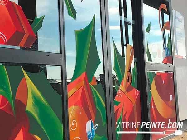 Vitrine & peinture de NOEL - INTERMARCHÉ / Vidauban