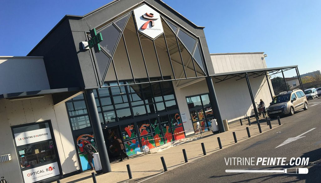 NOEL / Vitrine tranditionelle // Décoration centre commercial / INTERMARCHÉ