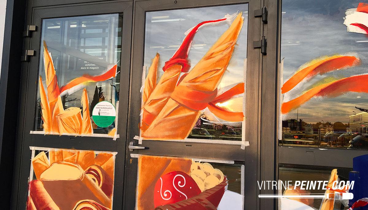 NOEL / Vitrine boulangerie // Décoration centre commercial / INTERMARCHÉ