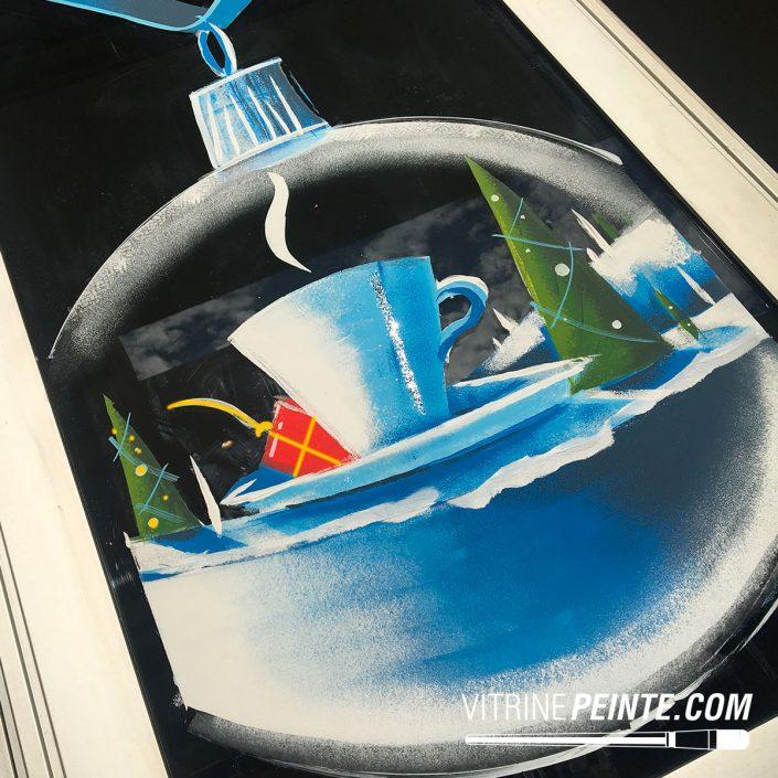 dessin sur vitre et peinture sur vitrine