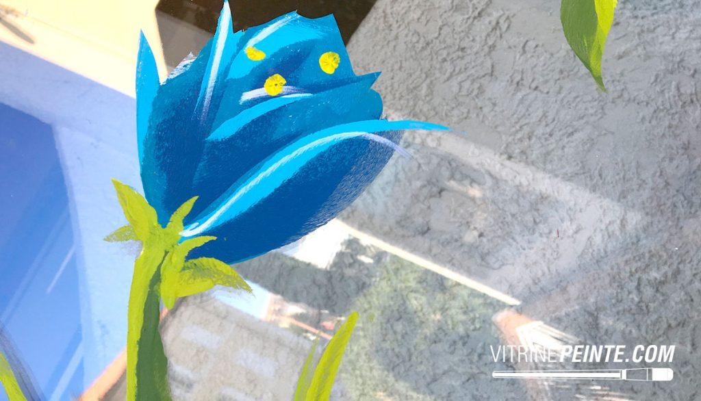 PRINTEMPS Vitrine peinture fleur décoration centre commercial fleuriste HYPER-U
