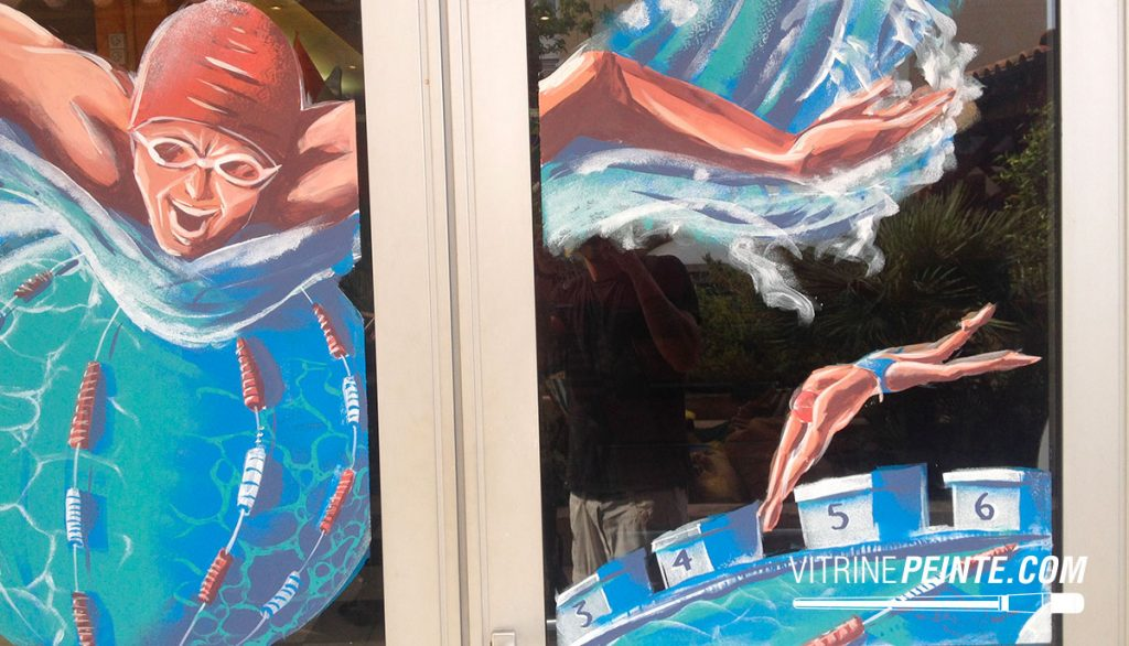 Déco jeux olympique pour vitrine de magasin