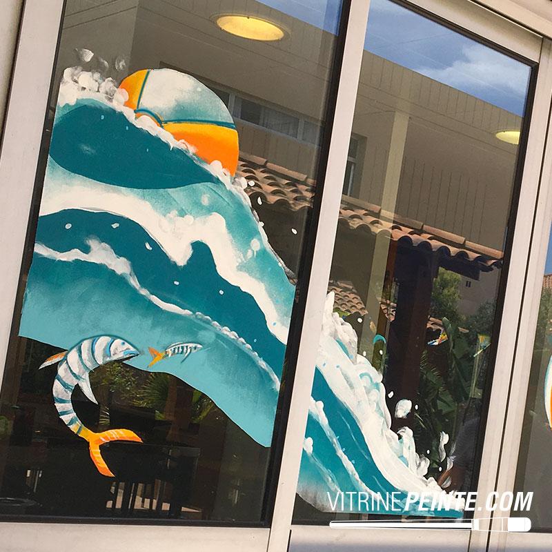 vitrine ete plage idée peinture estival