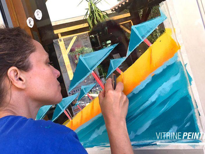 idée deco plage vitrine ete peinture