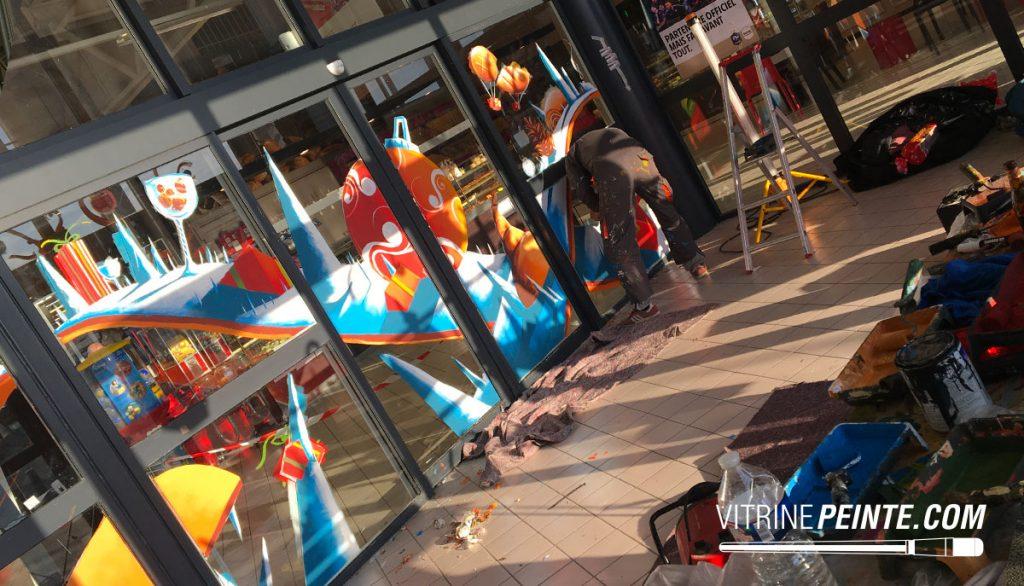 Vitrine NOEL // Décoration centre commercial - hyper marché
