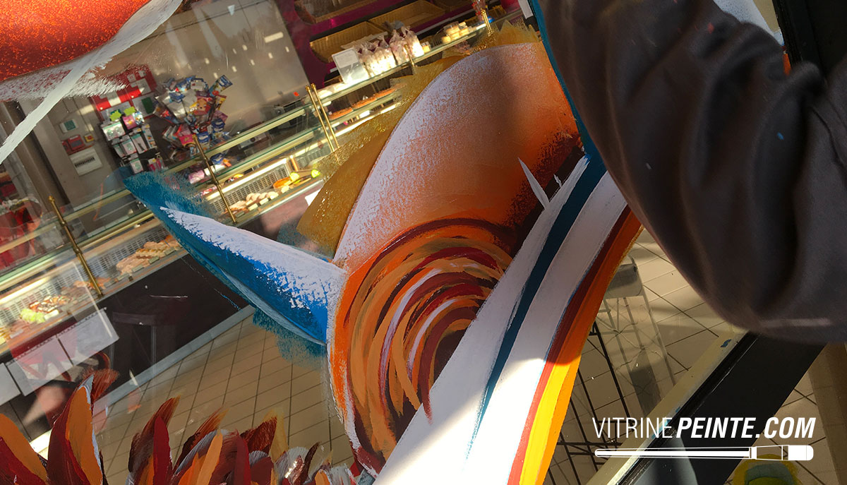 Vitrine NOEL / Peinture vitrine / deco boutique