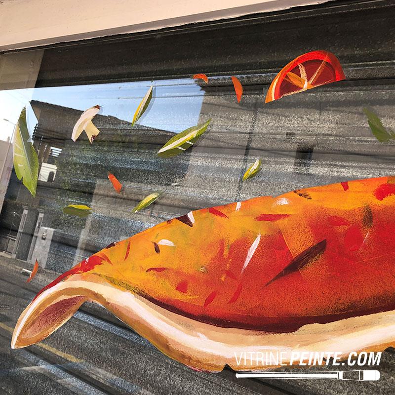 peinture dessin pizza halloween peinture vitrine pizzaria