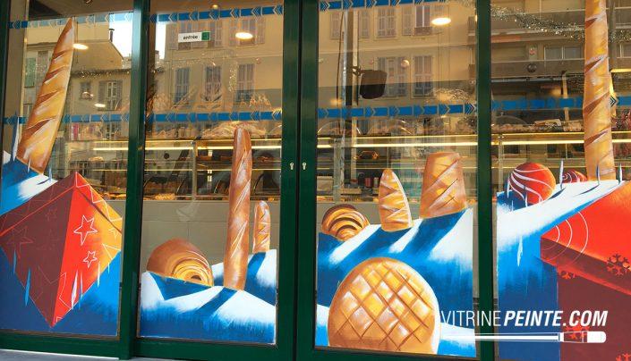 NOEL / Vitrine gourmande // Décoration boulangerie / NICE