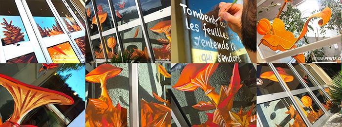Décoration vitrine automne pour petites et grandes surfaces