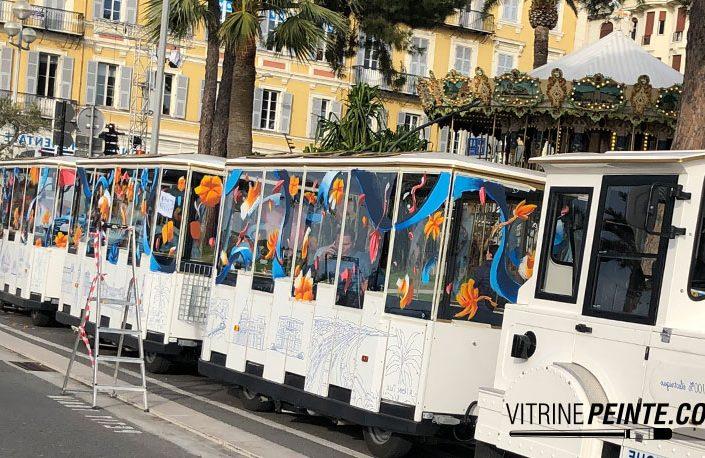 dessin sur vitre et peinture sur vitre Nice
