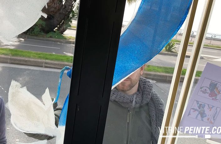 dessin sur vitre peinture vitrine