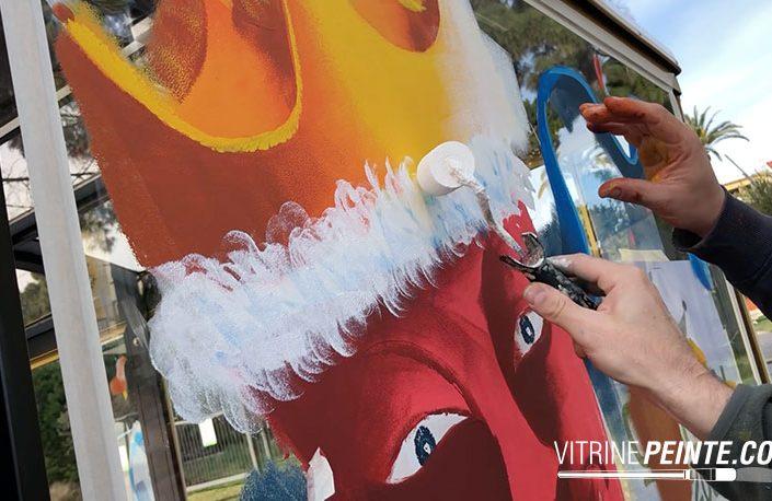 idée deco vitrine commercant peinture sur vitrine carnaval de nice vitrine magasin