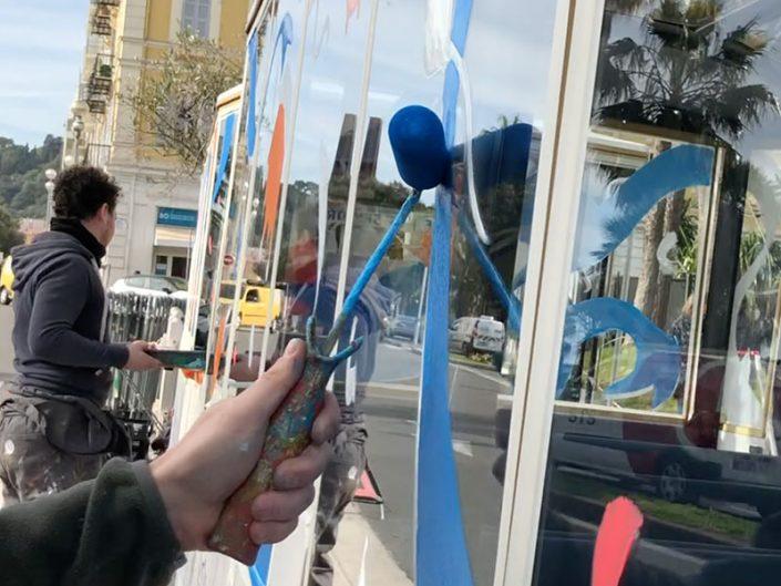peinture sur vitre artiste dessin verre