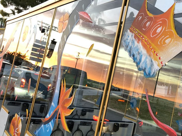 décoration vitrine carnaval peinture sur vitre