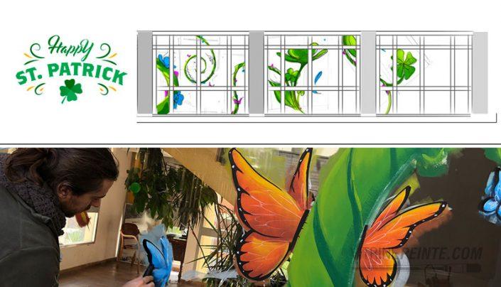 idée décoration vitrine printemps