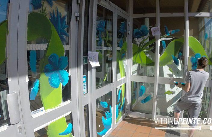 Décoration Vitrine magasin devanture boutique Fête des Mères