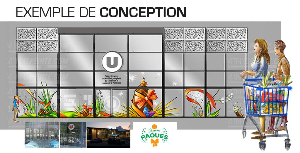 entreprise professionel decoration printemps paque.printemps.centre.commerciaux super-U, intermarcher, carrfour,