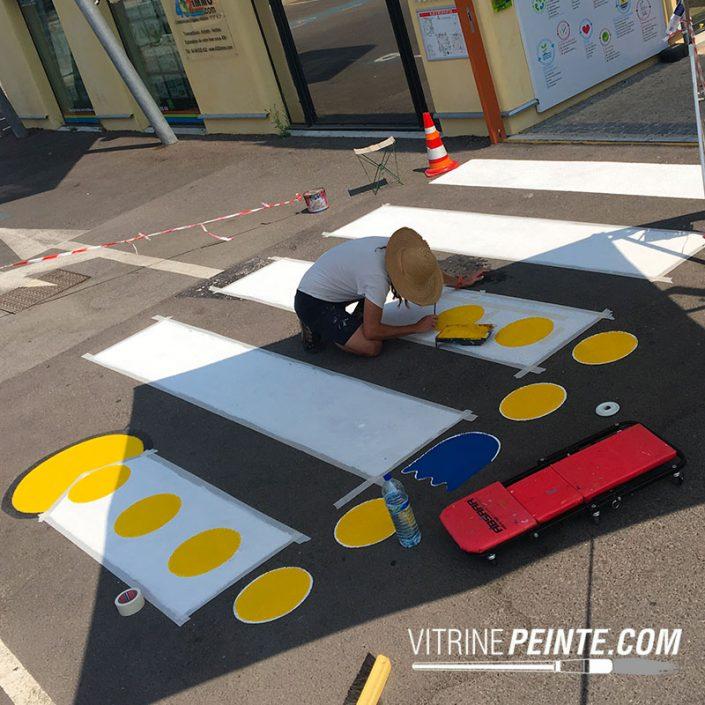 decoration.peinture.passage.pieton.cloute.street.art.clean.tag.Deco.originale.pac-man.jeu.arcade.retro.pop.culture