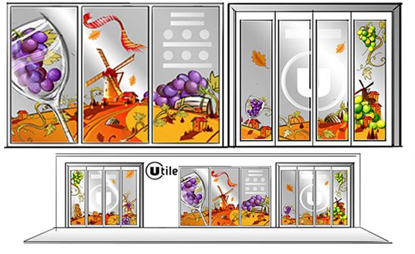 Decoration.sur.la.route.des.vins.idee-deco.peinture.vitrine.decoration.saison.automne.halloween E.Leclerc