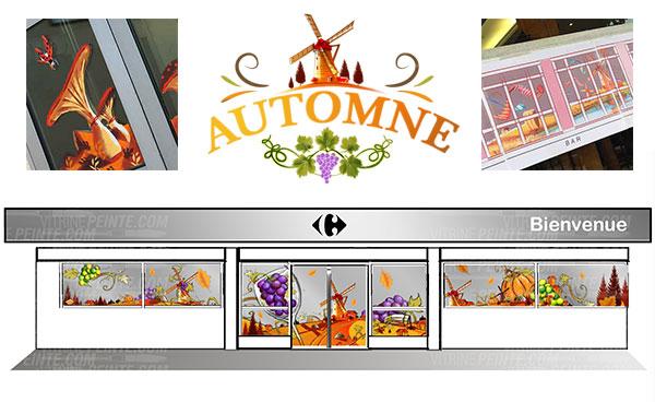 Carrefour.decoration.sur.la.route.des.vins.idee-deco.peinture.vitrine.decoration.saison.automne.halloween.